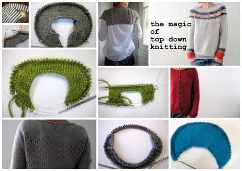 Top down knitting
